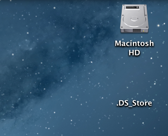 ds store is now transparent on desktop of mac